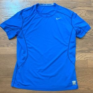 Nike Pro Combat Dri Fit Shirt Mens Large Fitted